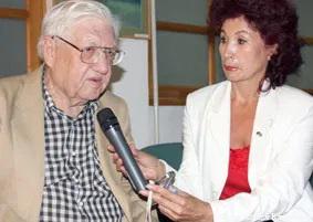 Саят Джансугуров и Татьяна Жандильдина, редактор немецкой программы на радио «Казахстан».