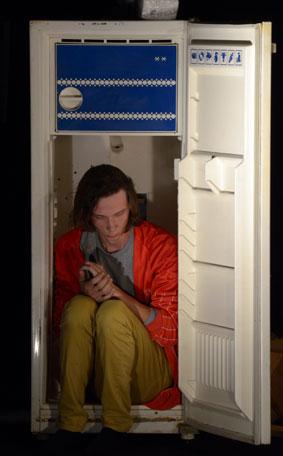В холодильнике...
