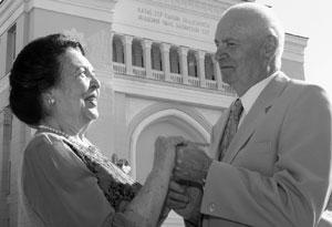 С супругой Маргаритой Дергачевой.