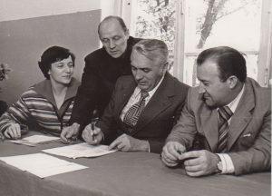 Эрнст Боос с сотрудниками