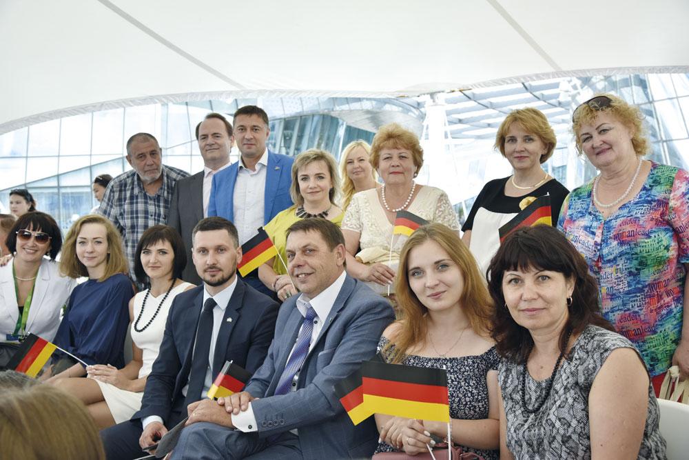 Светлана Корнеева с коллегами на открытии Национального дня Германии на ЭКСПО-2017.   Фото: Вероника Лихобабина   DAZ