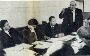 В правительственном Оргкомитете по подготовке I съезда немцев СССР.