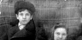 Роберт Ридель, воспитанник Кленовского детского дома, и Мария Ивановна Катаева. Урал, 1947.