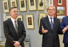 Д-р Бернхард Лауэр, управляющий директор Общества Братьев Гримм и Рольф Мафаэль, Посол Федеративной Республики Германия.