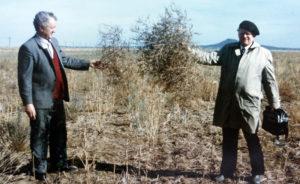 Юрий Попов и Юрий Гуммель на карагандинской земле. 1989 г.