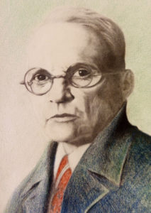 Портрет Генриха Фогелера. А.М.Тусупханов. 2017 г.