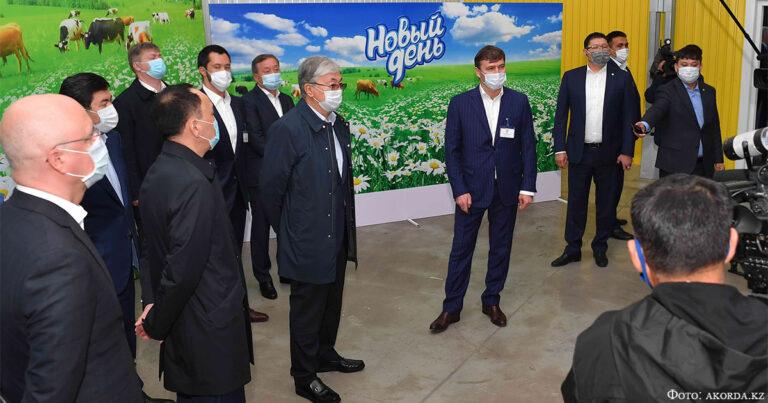 Глава государства посетил ТОО «Милх»