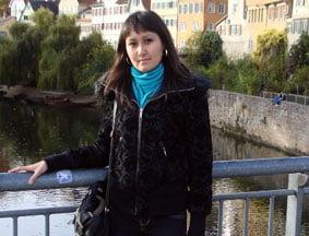 ...Asel Kazybekova in sozialen Projekten.
