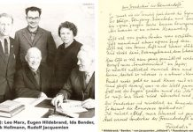 (V.l.n.r.): Leo Marx, Eugen Hildebrand, Ida Bender, Dominik Hollmann, Rudolf Jacquemien | Foto aus dem privaten Archiv von Eugen Hildebrand