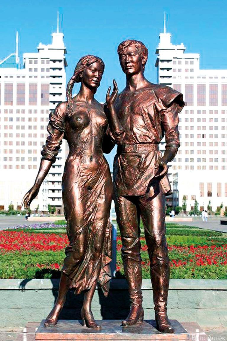 Barbusige Statue erweckt Unruhe in Astana