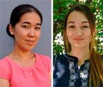 Nursat Tschintemirowa, 24, Kirgisistan (Osch) und Ramilja Tursunowa, 22, Usbekistan (Fergana)