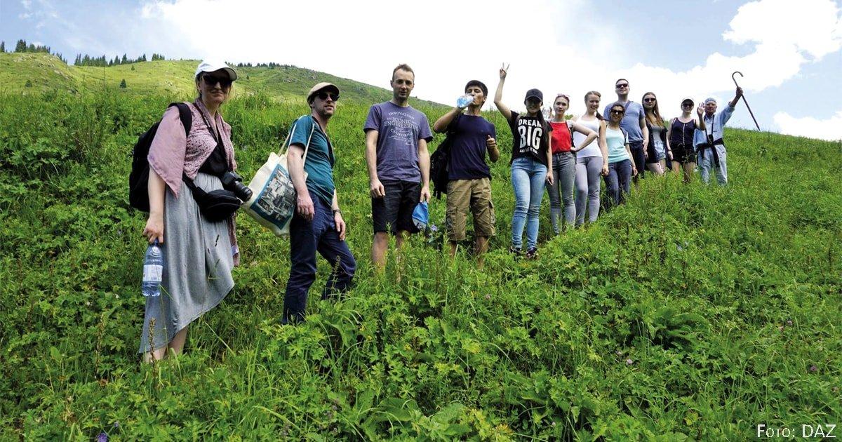 Kennenlernen in wilder Natur im Kaskelen-Tal. | DAZ