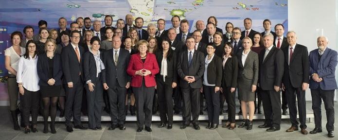 Bundeskanzlerin Angela Merkel empfing in der vergangenen Woche Vertreter der deutschen Minderheiten aus ganz Europa und Zentralasien. | Foto: Bundesregierung, Guido Bergmann