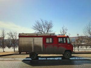 Diesen Einsatzwagen der deutschen Freiwilligen Feuerwehr entdeckte Daniel Amanscholow in Karaganda.