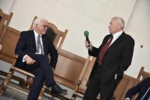 Wladimir Baumeister (Chirurg) und Bundespräsidenten Frank-Walter Steinmeier