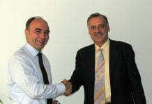 Dr. Christoph Bergner mit Alexander Dederer. 2006.