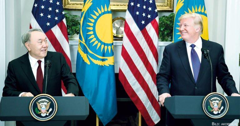 Nasarbajew in Washington: Viel gegenseitiges Lob