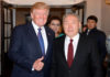 US-Präsident Trump und Kasachstans Präsident Nasarbajew.