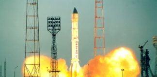 Raketenstart in Baikonur