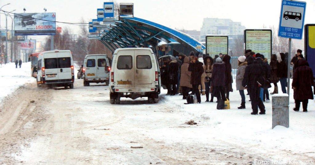 Marshrutkas in Russland.