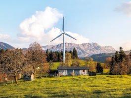 Ein Windrad steht selten allein. Meistens gibt es ganze Windparks, die für nachhaltige Ernergieerzeugung sorgen.