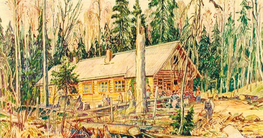 Haus in der Siedlung Wilga.