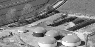 Biogasanlagen aus de Luft.
