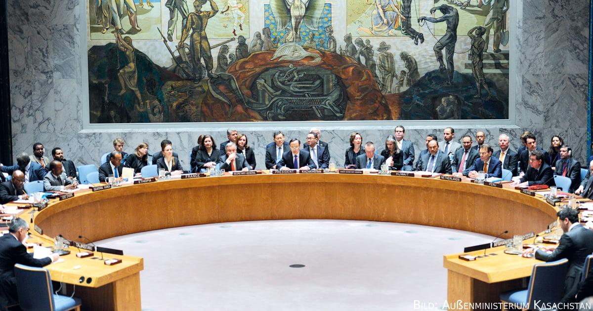 Ministerdebatte zu Afghanistan und Zentralasien am 19. Januar 2017 im VN-Sicherheitsrat.