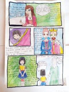 Ausschnitt aus dem Comic der Wettbewerbsgewinnerin Daria Eremenko, Schülerin der Schule Nr.46