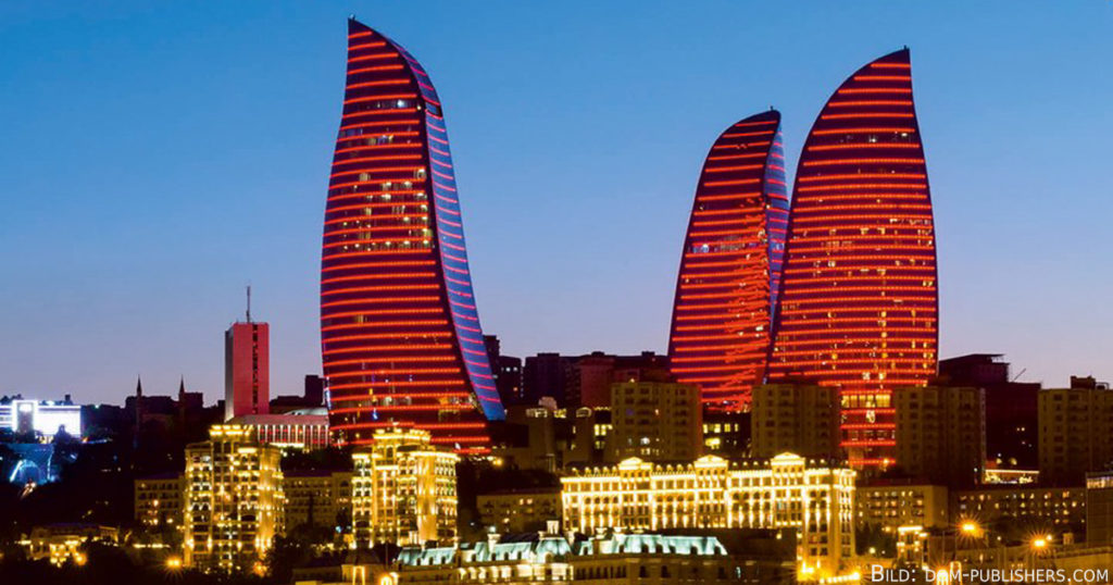 Seit 2013 Bakus neues Wahrzeichen: die Flame Towers.