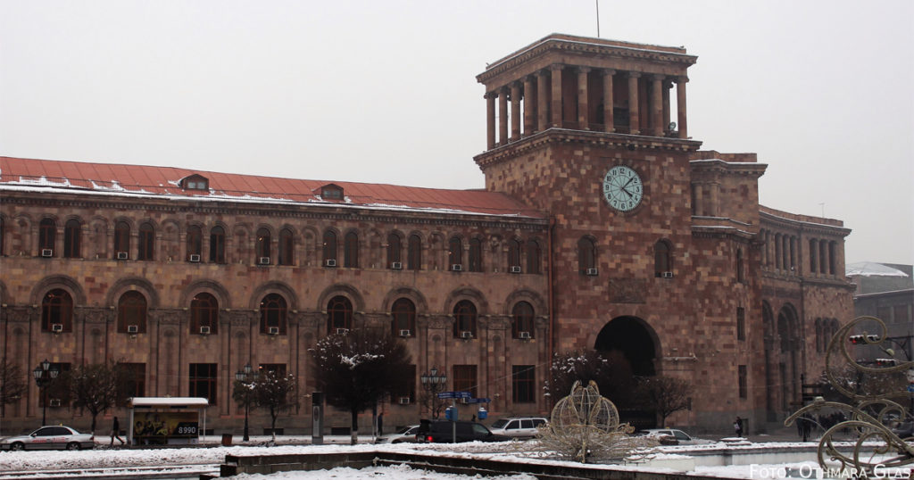 Der Platz der Republik im Winter.