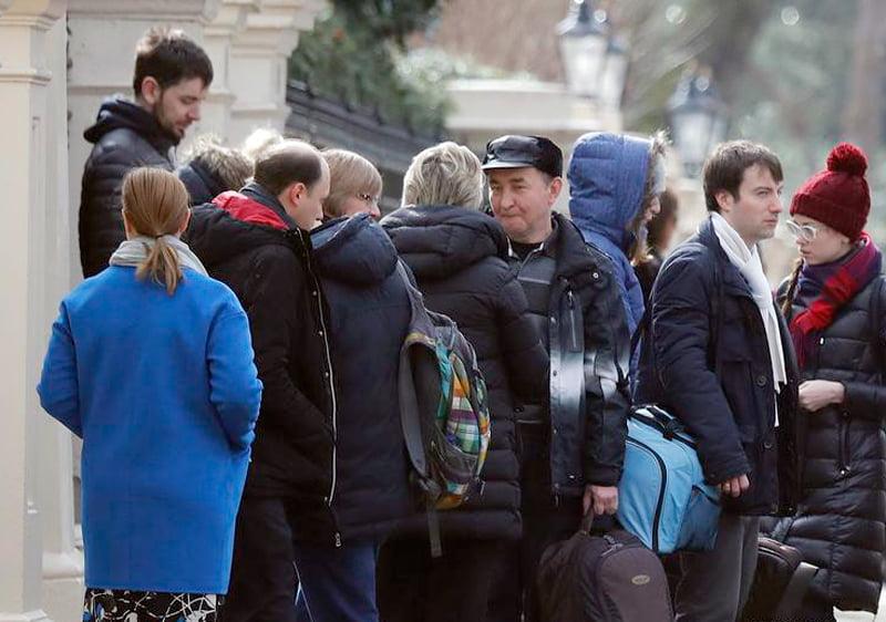 Russische Diplomaten müssen Großbritannien verlassen.