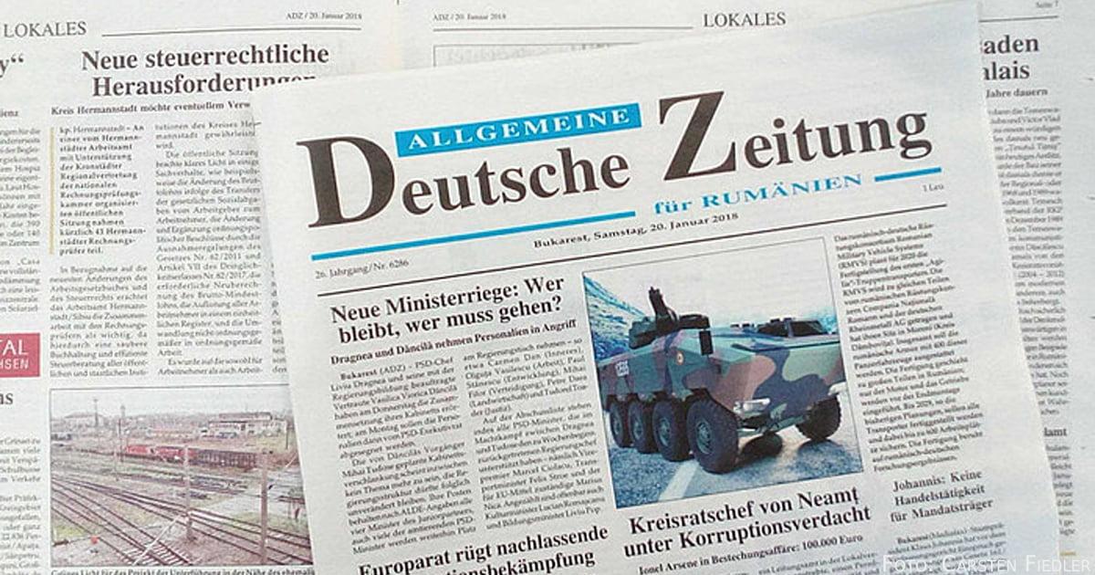 Titelseite der ADZ