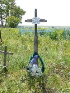 Angeblich war er der erste Deutsche, der auf dem Friedhof in Ostrownoje 1936 beerdigt wurde: mein Urgroßvater Eduard Peter.