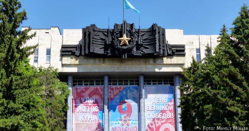 Tausende Almatyner feierten das 73. Jubiläum des Siegestags in der ganzen Stadt.