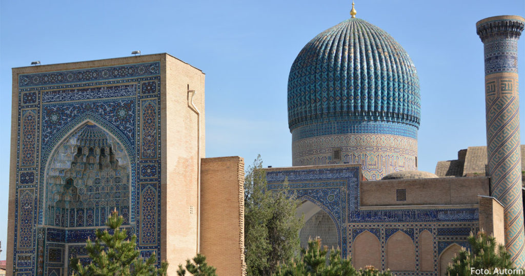 Eine Medresse in Usbekistan.