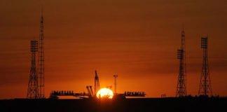 Startrampe 1 des Kosmodroms Baikonur vor dem Rollout der Sojus TMA-13