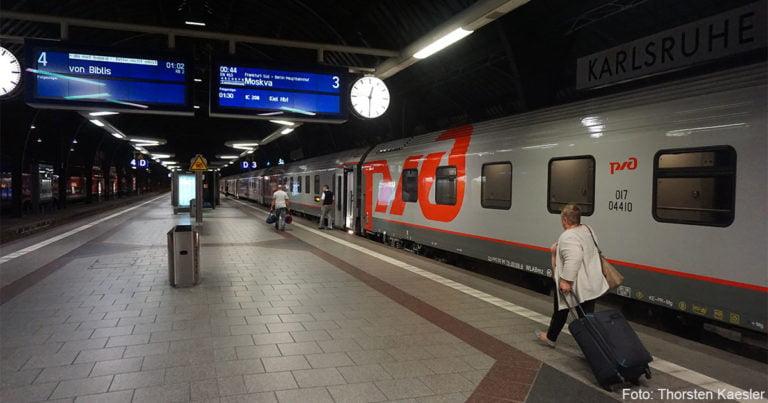 Reisen über Nacht: Wer den Nachtzug Paris-Karlsruhe-Moskau nutzt