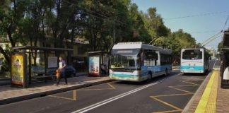Ein Trolleybus in Almaty