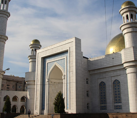 Die Zentralmoschee in Almaty.