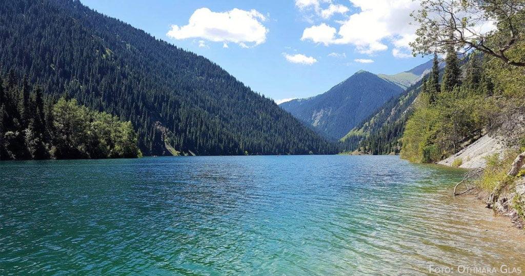 Der untere der beiden Kolsai-Seen.