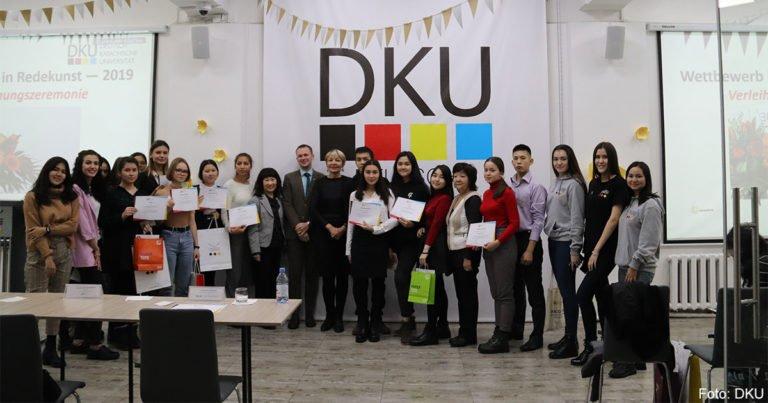 Glanzvoller Wettbewerb für Redekunst an der Deutsch-Kasachischen Universität in Almaty