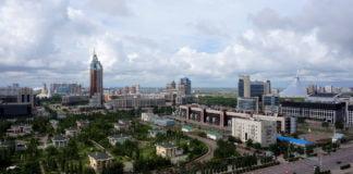 Aufnahme von Nur-Sultan, früher Astana.