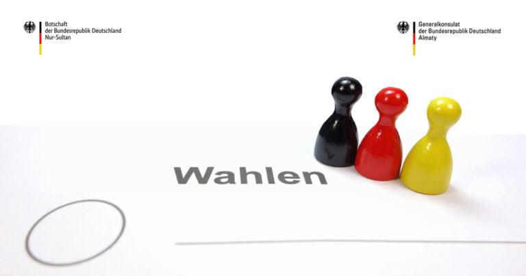 Bekanntmachung für Deutsche zur Wahl zum Deutschen Bundestag