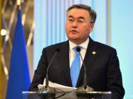 Kasachstans Außenminister Tleuberdi in Brüssel