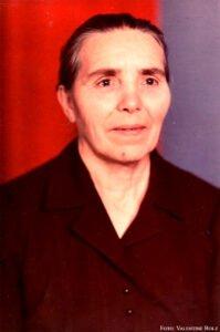 Mathilde Fischer, geborene Widmaier. Geb. am 23.01.1921 in Olgafeld, Altai. Gest. am 8.02.1989 in Orlowo, Altai.