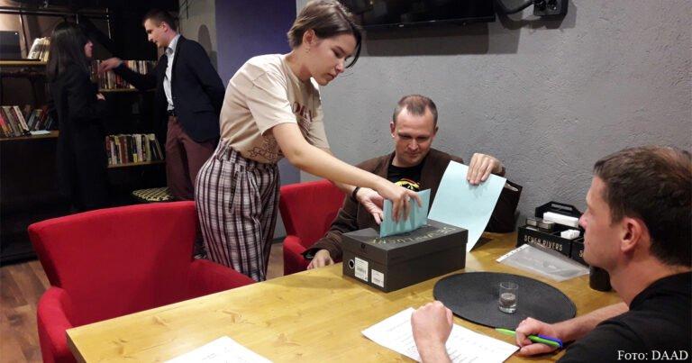 Deutsch-Kasachische Wahlparty
